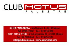 Tessera Club Motus Milano
