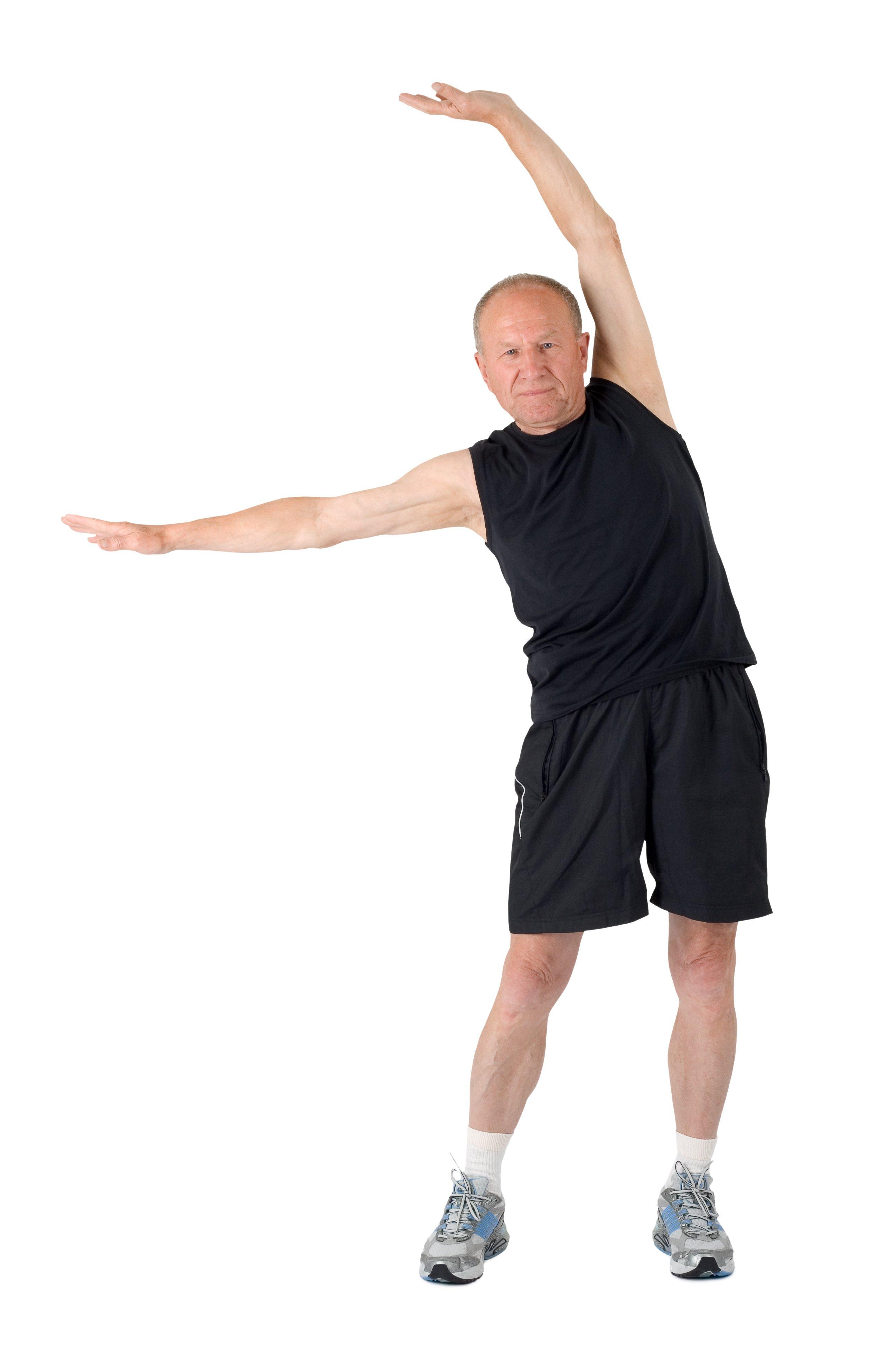 anziano stretching